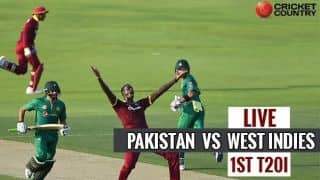 Live Cricket Score, Pakistan vs West Indies, 1st T20I at Barbados: WI lose Lewis