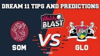 Dream11 Team Somerset vs Gloucestershire Match T20 BLAST 2019 T20 Blast – Cricket Prediction Tips For Today's T20 Match SOM vs GLO at Taunton