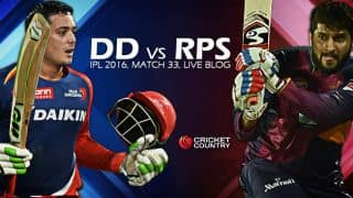 RPS 166/3 in Overs 19.1 | Live Cricket Score Delhi Daredevils (DD) vs Rising Pune Supergiants (RPS), IPL 2016 Match 33 at Delhi: RPS win by 7 wickets