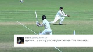 Twitterati troll Gambhir after he drops a catch