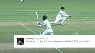 Twitterati troll Gautam Gambhir after he drops a catch