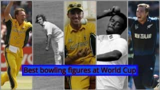 VIDEO: Top five best bowling figures at the World Cup