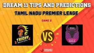 Dream11 Team Ruby Trichy Warriors vs Idream Karaikudi Kaalai Match 2 TNPL – Cricket Prediction Tips For Today's T20 Match RUB vs KAR at NPR College Ground, Dindigul
