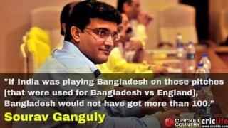 Sourav Ganguly defends Rajkot pitch; criticises 'minefields' of Bangladesh
