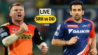 HIGHLIGHTS, Sunrisers Hyderabad (SRH) vs Delhi Daredevils (DD), IPL 10, Match 21: SRH win by 15 runs