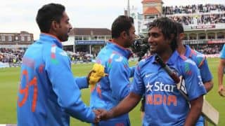 India vs England 2014, 4th ODI at Edgbaston: India train indoors due to heavy rains