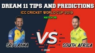 SL vs SA Dream11 Prediction, Cricket World Cup 2019, Match 35: Best Playing XI Players to Pick for Today's Match between Sri Lanka and South Africa at 3 PM