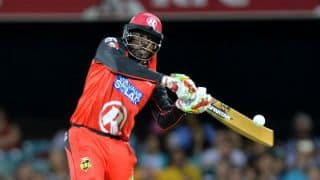 BBL 2015-16: Chris Gayle's gold-coloured bat creates buzz in Australia