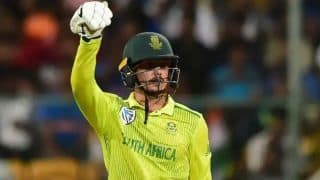 Fixed mistakes from the last game: de Kock