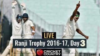 LIVE Cricket Score Ranji Trophy 2016-17, Day 3, Round 3