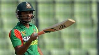 Anamul Haque departs after scoring century against Pakistan in Asia Cup 2014