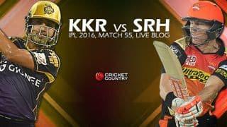 SRH 149/8 (20) | TARGET 172 | Live Cricket Score Kolkata Knight Riders vs Sunrisers Hyderabad, IPL 2016, Match 55 at Kolkata: KKR qualify for Playoffs