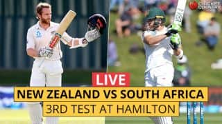 Live Cricket Score, NZ vs SA, 3rd Test, Day 1: Amla departs; de Grandhomme strikes