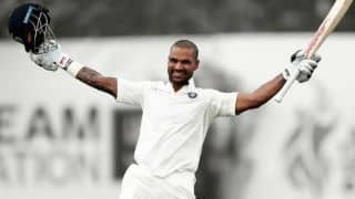 Shikhar Dhawan becomes sixth batasman to score hundred before lunch