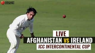 Live Cricket Score, Afghanistan vs Ireland, ICC Intercontinental Cup Match at Greater Noida: Century for Stanikzai, Nabi departs for 11