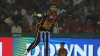 पंजाब के खिलाफ हार के बावजूद टीम के प्रदर्शन से खुश हैं भुवनेश्वर कुमार