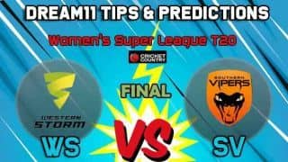 WS vs SV Dream11 Team Western Storm vs Southern Vipers, Final Women's Super League T20– Cricket Prediction Tips For Today's match at : County Ground, Hove