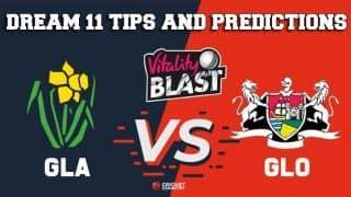 Dream11 Team Glamorgan vs Gloucestershire South Group VITALITY T20 BLAST ENGLISH T20 BLAST – Cricket Prediction Tips For Today's T20 Match GLA vs GLO at Sophia Gardens, Cardiff