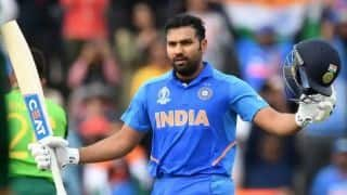 IND vs SL: Rohit Sharma reacts after making record of 5 century in world cup