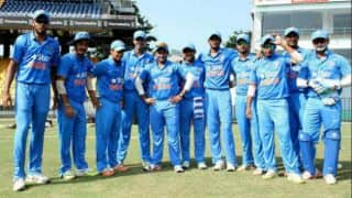 NAM 152 Overs 39 | Live Cricket Score, Super League Quarter-Final-2: India U-19 v Namibia U-19 at Fatullah:India qualify for semi-finals