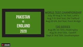 England vs Pakistan 2020: Three Tests, three T20Is