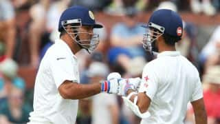 Ajinkya Rahane, MS Dhoni help India take lead past 100 against New Zealand on Day 2 of 2nd Test