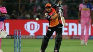 IPL 2019, RR VS SRH : Manish Pandey hits half century, Sunrisers Hyderabad restrict Rajasthan Royals 160/8