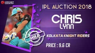 IPL Auction 2018: Chris Lynn stays with Kolkata Knight Riders,  fetches INR 9.6 crore