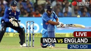 Live Cricket Score India vs England, 2nd ODI at Cuttack
