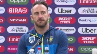 Our pace unit is a real, real threat in English conditions: Faf du Plessis