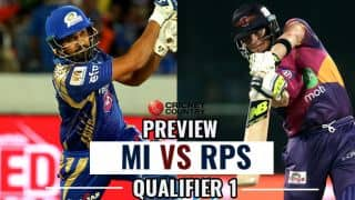 Mumbai Indians (MI) vs Rising Pune Supergiant (RPS), IPL 2017, Qualifier 1, preview and likely XI: A must win Match for both RPS and MI to qualify directly for Final