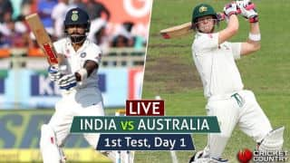 LIVE Cricket Score India vs Australia 2016-17, 1st Test, Day 1: Australia off to a watchful start