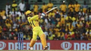 Du Plessis fifty, Dhoni late surge take CSK to 160 despite Ashwin's 3/23