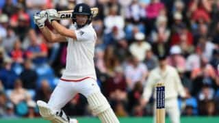 Adam Lyth falls for 107 against New Zealand on Day 2 of the 2nd Test at Headingley