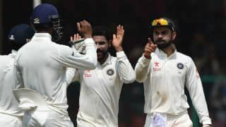 Jadeja completes 100 Test wickets during India vs England clash at Mumbai