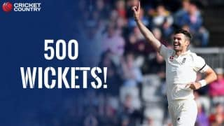 James Anderson becomes first Englishman to take 500 Test wickets