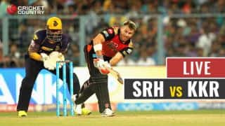 Live IPL 2017 Score, SRH vs KKR, Match 37: SRH on the attack early