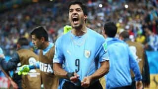 Uruguay's Luis Suarez sinks England 2-1 in FIFA World Cup 2014 Group D match