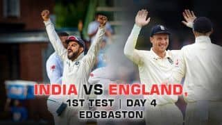 Highlights, India vs England, 1st Test, Day 4 , Full Cricket Score and Result: England overcome Virat Kohli heroics to win by 31 runs at Edgbaston