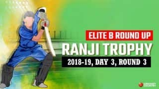Ranji Trophy 2018-19, Elite B, Round 3, Day 3: Delhi trail Hyderabad by 215 runs with four wickets in hand