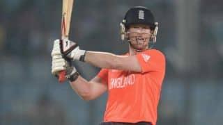 Morgan's brilliance takes England to 180/7
