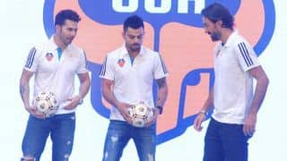 Virat Kohli showcases his football skills at launch of FC Goa jersey for ISL