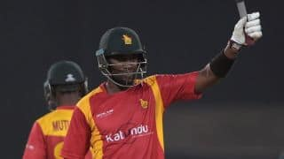 Elton Chigumbura scores maiden ODI century in game against Pakistan in 1st ODI at Lahore