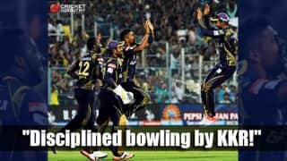 Kolkata Knight Riders restrict Chennai Super Kings to 134 in match 28 of IPL 2015