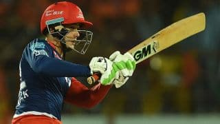 Quinton de Kock scores 52 for Delhi Daredevils against Kings XI Punjab in IPL 2016 Match 36