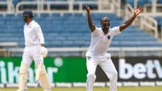 IND vs WI, day-3, session 3: kemar Roach restricts india to 73/4 till lunch