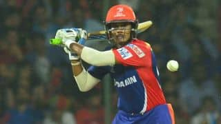 Delhi Daredevils off to a steady start against Kolkata Knight Riders in IPL 2015