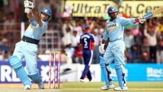 India v England at Rajkot, Nov 14, 2008: When Yuvraj Singh scored 138 runs off 78 balls
