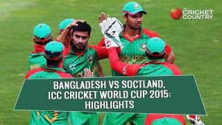 Bangladesh vs Scotland, ICC Cricket World Cup 2015 match highlights