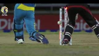 CPL 2017: Bizarre incident of batsman getting cleaned-up but still a boundary!